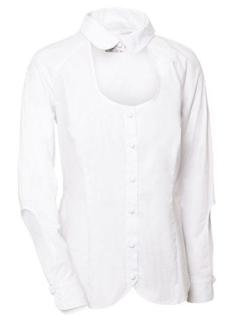 _open-roundend white blouse Van Jos