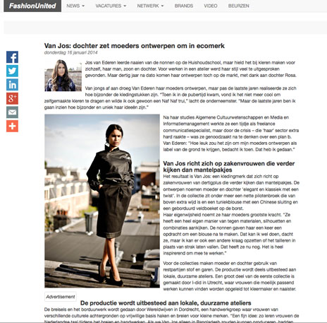 Van Jos op Fashionunited